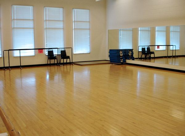 Dance studio dance floor