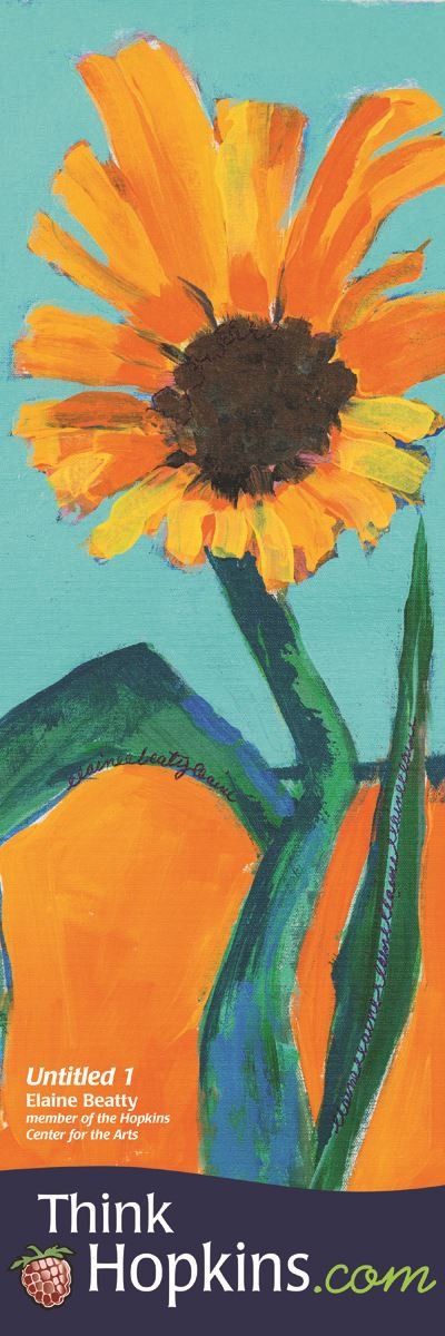 Untitled Banner, orange flower