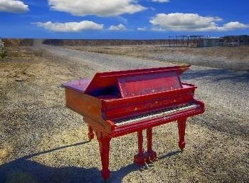 Piepkorn. image of red piano