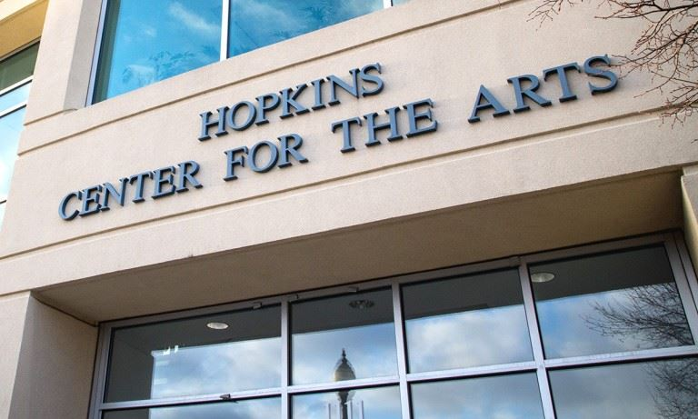 Outside Hopkins Center for the Arts